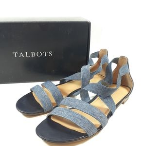 Talbots Denim Elastic Sandals Sz 9.5 USED Lamar